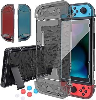 Capa HEYSTOP compatível com Nintendo Switch Dockable, capa protetora transparente para Nintendo Switch e controle Joy-Con ...
