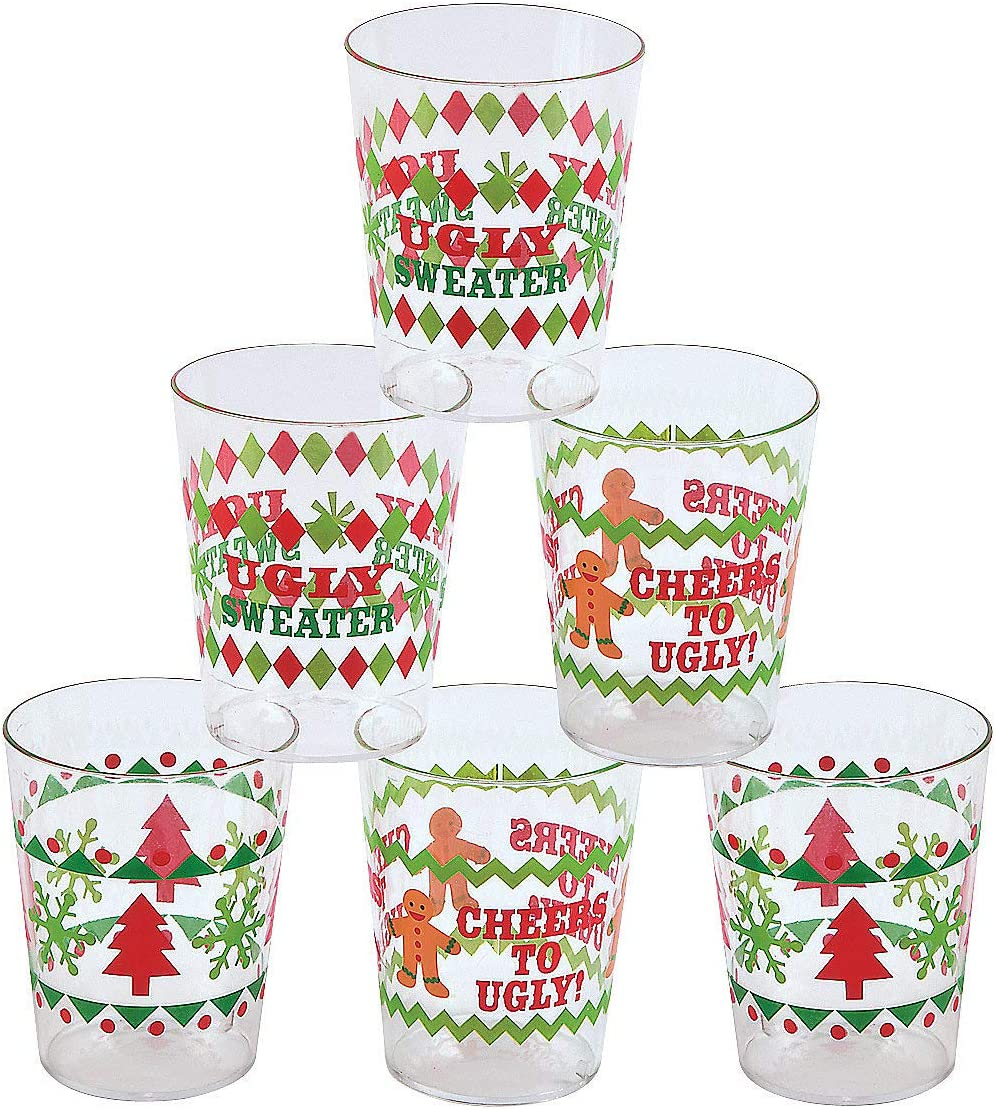 280003 Holiday Party Favors Christmas Shot Glasses Custom Christmas Christmas Favors Holiday Shot Glass Joy Love Peace Believe