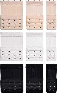 VNDEFUL 22 Pcs Women Soft Comfortable Bra 3 Hooks 3 Rows Spacing Extender