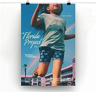 Ipea フロリダプロジェクトムービーガールとレインボーキャンバスウォールアートポスターカスタムHdプリント部屋の装飾寝室の装飾家の装飾-50X75Cmフレームレス