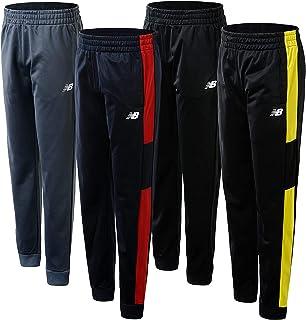 New Balance Boys' Sweatpants - 4 Pack Active Tricot Joggers (Little Kid/Big Kid)