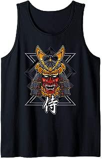 Samurai oni mask warrior Demon Bushido Knight 2 Tank Top