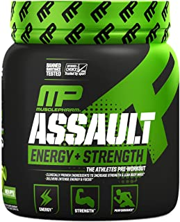 MusclePharm Assault Sport, Green Apple, 30 Servings