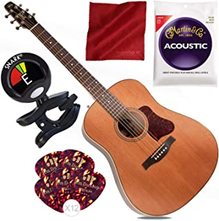 Seagull Coastline Momentum HG Acoustic/Electric Guitar with Tuner and Basic Bundle