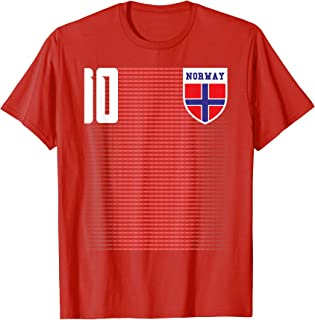 Norway Soccer Jersey Shirt Tee Norge Flag