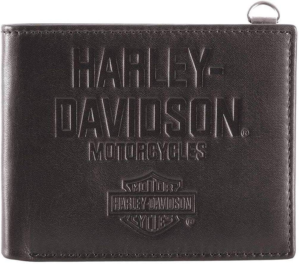 Harley-Davidson Men's Legendary Leather Bi-Fold Wallet w/RFID HDMWA11650