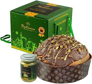 Panettone artigianale al pistacchio con gocce di cioccolato 1.2 chilogrammi : marturano B08JCTXNS1