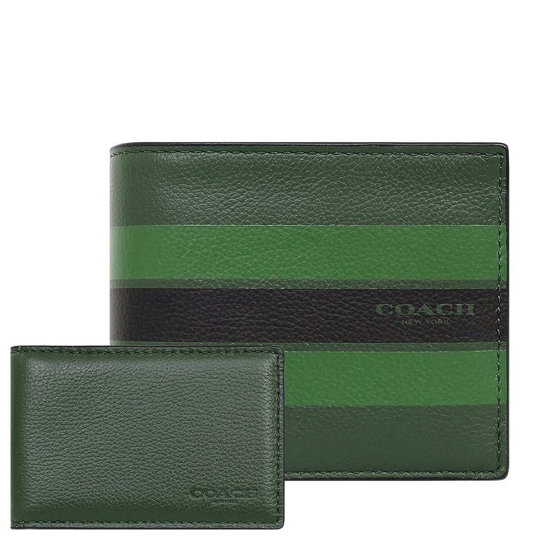 疑い者耐えられない無臭[コーチ] COACH 財布 (二つ折り財布) F75399 パームパイン×ブラック M3Y レザー 二つ折り財布 メンズ [アウトレット品] [並行輸入品]