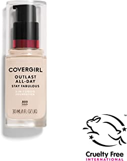 COVERGIRL Outlast All-Day Stay Fabulous 3-in-1 Foundation, 1 Bottle (1 oz), Ivory Tone, Liquid Matte Foundation and SPF 20 Sunscreen (packaging may vary)
