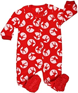 2081084b5c5f0 elowel Bebe Fille Grenouilleres Renne Pyjama Une Seule Piece Bien Serre,  Coupe etroite 100%