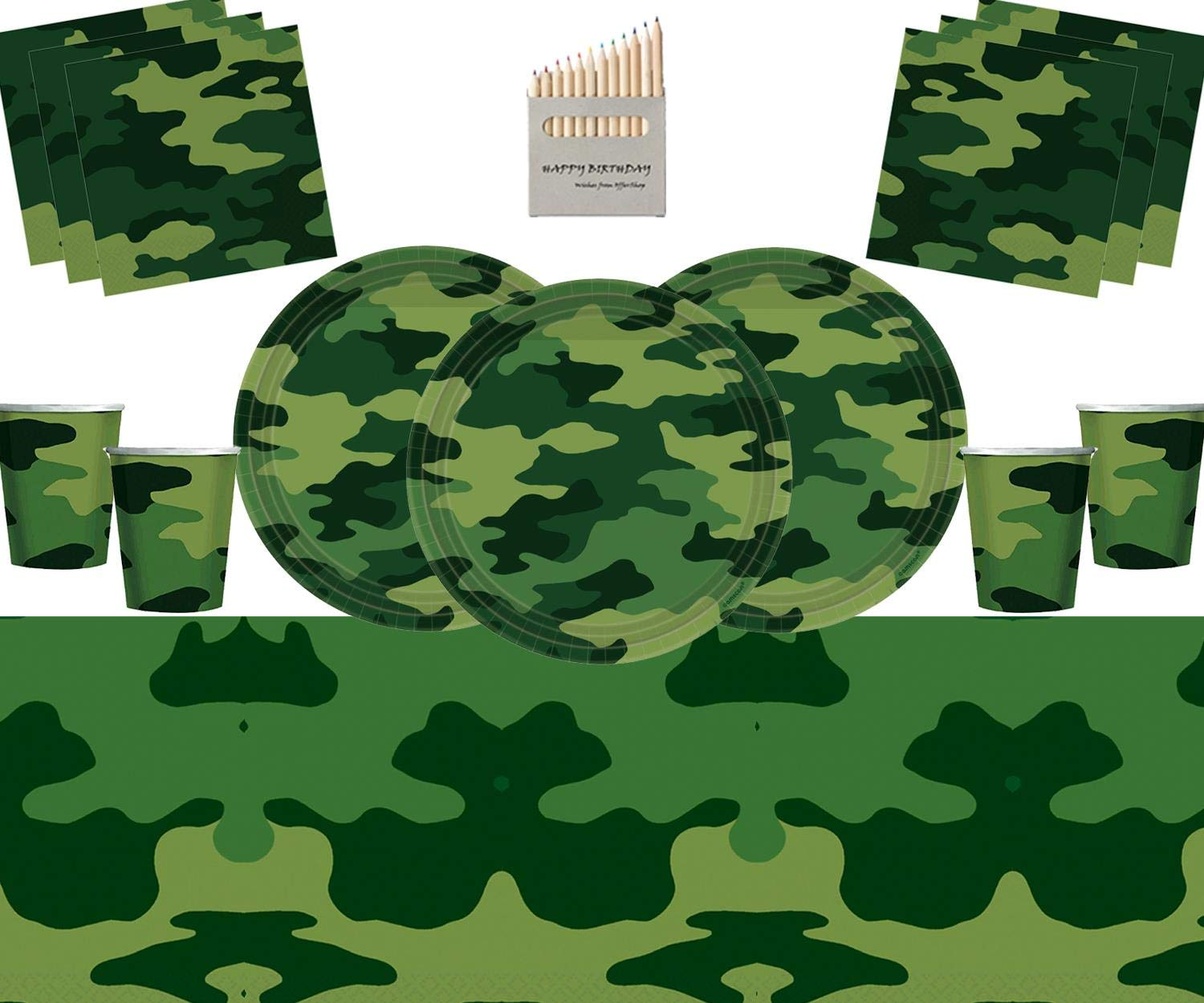 Army Camouflage Party Tableware Military Birthday Decorations Camo Plate Cup Napkin Table Cover Serves 16 Buy Online In Guatemala At Desertcart Com Productid 152812823