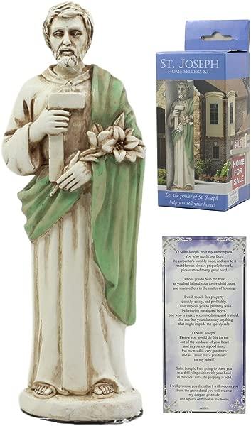 Ebros Saint Joseph Home Seller Kit With Prayer Card St Joseph Figurine Divinity Spiritual Symbol