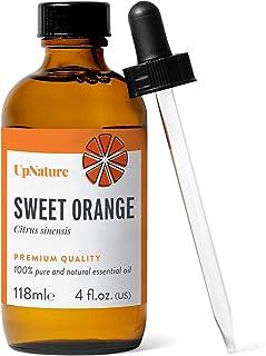 Orange Essential Oils 4 OZ - Pure Sweet Orange Oil, Therapeutic Grade, Undiluted, Non-GMO - Sweet Orange Oil for Skin, Moo...