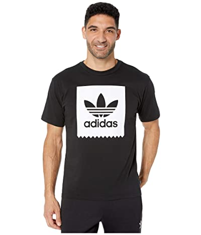 adidas Skateboarding Solid Blackbird Tee (Black/White) Men