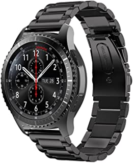 Gear S3 Frontier Band XL/Large, Oitom Premium Solid Stainless Steel Watch Bands Link..