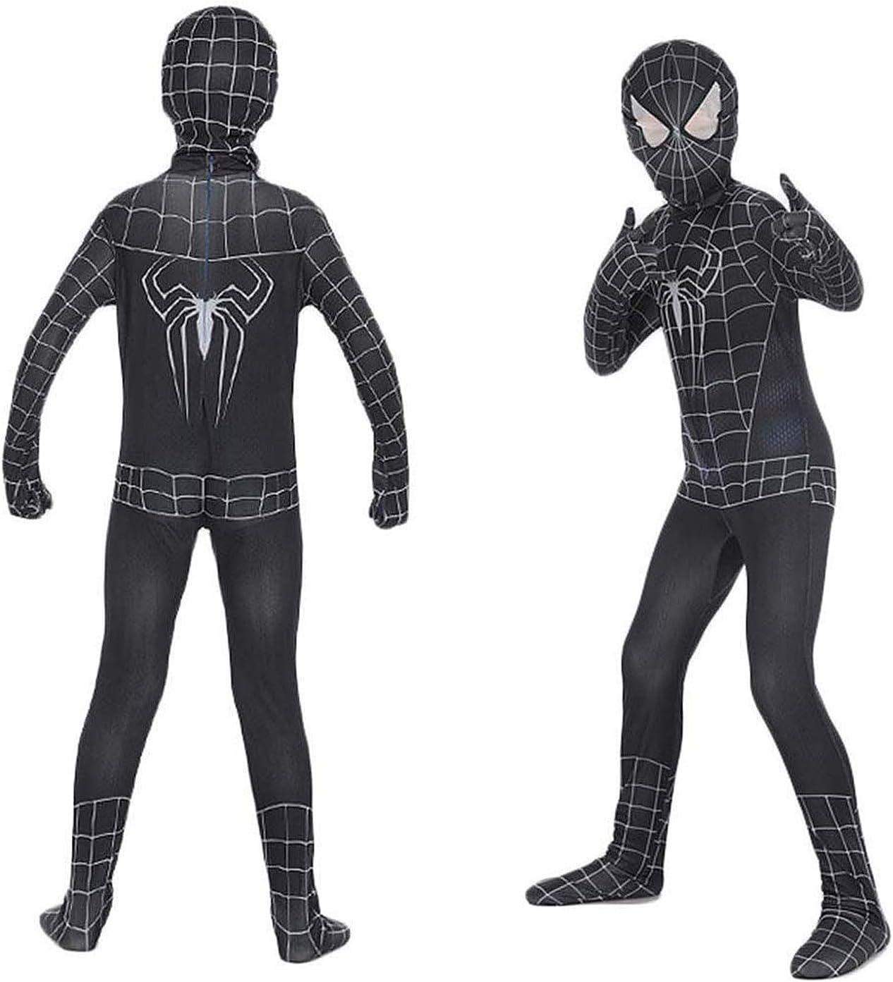 Costume da supereroe con stampa a ragno con cappuccio