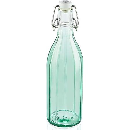 Leifheit 36331 Bouteille en verre facette 0,5 litre, vert