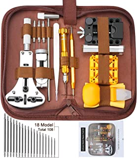 Watch Repair Tools Kits, Lifegoo Upgraded Version 149pcs Watchband Link Remover Spring Bar Tool Kit with Carrying Case and Instruction Manual