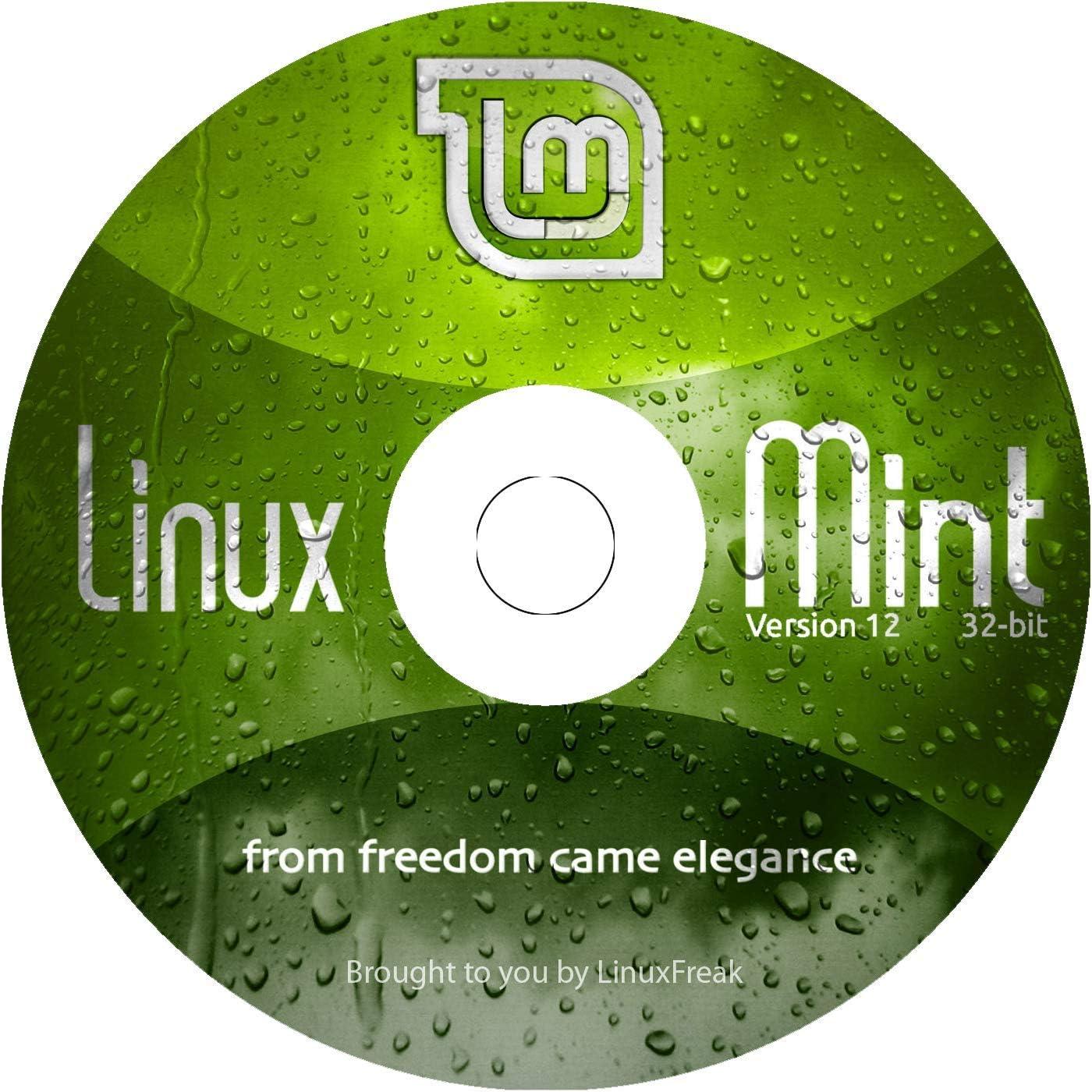 Linux Mint 12 Live Sale item Max 64% OFF DVD 32-bit - Plus version G Quick-Reference