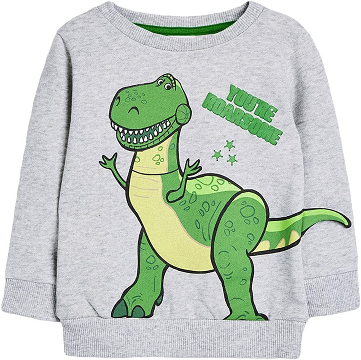 Toddler Boy's Long-Sleeve Pullover Sweater Cartoon Graphic Cotton Tee 2-7T