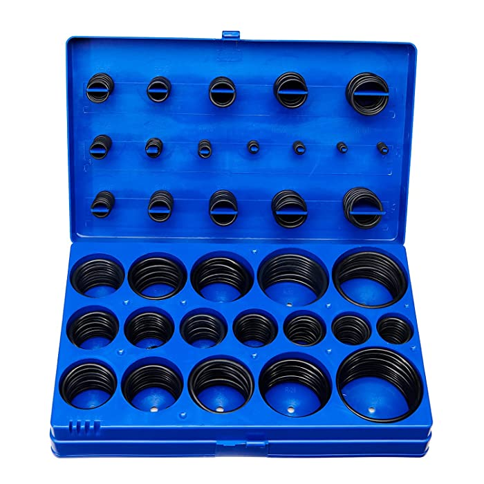 BUSY-CORNER 407 Pieces SAE Universal O-Ring Kit, Set of 32 USA Standard Sizes, Buna-N 70A, Rubber Seals O Rings, for Faucet, Professional Plumbing, Automotive