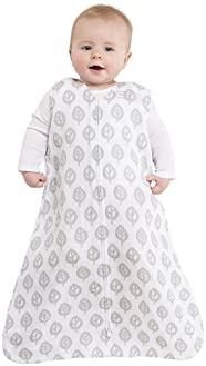 HALO 100% Cotton Muslin Sleepsack Wearable Blanket, Grey Tree Leaf, Extra-Large