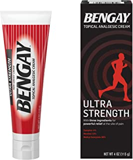 Bengay Topical Pain Relief, 30% - 10% - 4% Strength Cream, 4 Ounce, 510819400 - Sold by: Pack of ONE