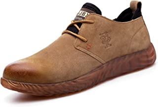 VOLKLAND Men Casual Leather Steel Toe Safety Shoe
