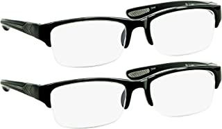Black Computer Reading Glasses 1.50 Protect Your Eyes Against Eye Strain, Fatigue and Dry Eyes from Digital Gear with Anti Blue Light, Anti UV, Anti Glare, and are Anti Reflective