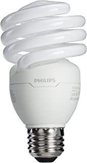 Philips LED 417097 Energy Saver Compact Fluorescent T2 Twister (A21 Replacement) Household Light Bulb: 2700-Kelvin, 23-Watt (100-Watt Equivalent), E26 Medium Screw Base, Soft White, 4-Pack