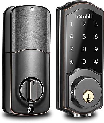 [2020 Newest Version] Keyless Entry Door Lock Deadbolt, Smart Lock Front Door, Electronic Door Locks with Keypads, Digital Auto Lock Bluetooth Smart Door Locks for Homes Bedroom