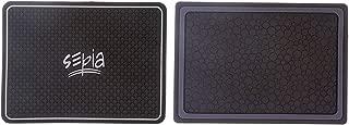 Sepia Car Dash Mat (Set of 2, Black)