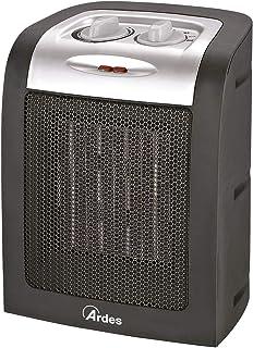 Ardes AR4P07A - Calefactor (Calentador de ventilador, Cerámico, IPX0, Interior, Piso, Mesa, Negro, Plata)