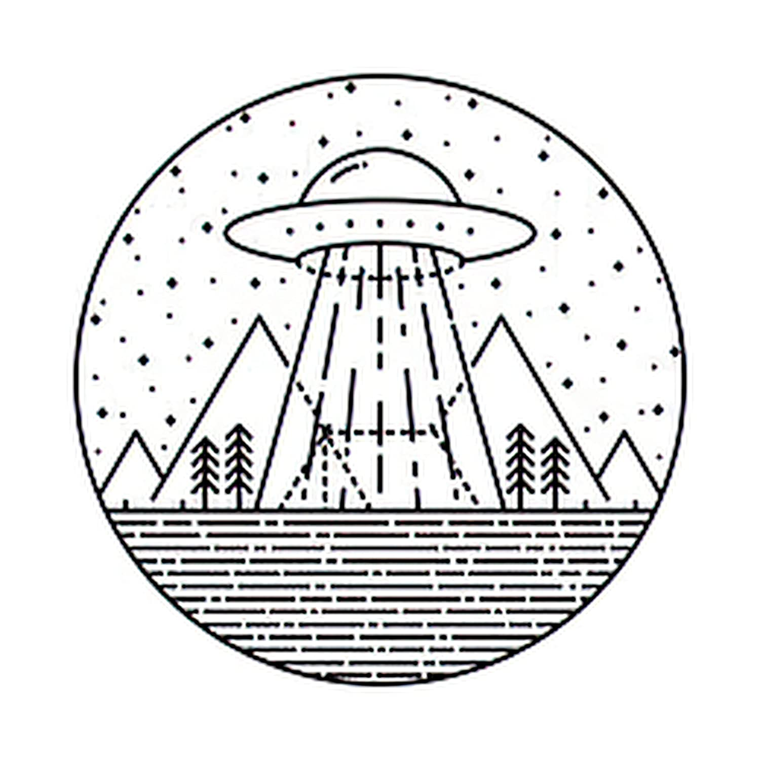Topics on TV 6 Sheets Temporary Tattoos Ufo Alien Nature W Wholesale Invasion Hike Camp