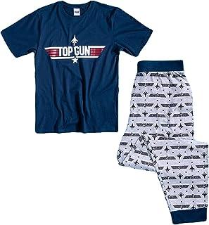 Mens TOP GUN Pyjamas Pjs PJ Size Large Nightwear Pajama Gift