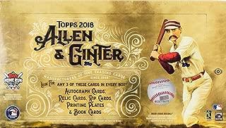 2018 Topps Allen & Ginter MLB Baseball HOBBY box (24 pk)