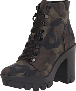 Jessica Simpson Women's Mistah Combat Boot, Green Combo, 10