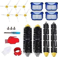 QAQGEAR Vacuum Cleaner Replacement Parts Kit for iRobot Roomba 645 655 675(Bristle Brush & Flexible Beater Brush, Side Bru...