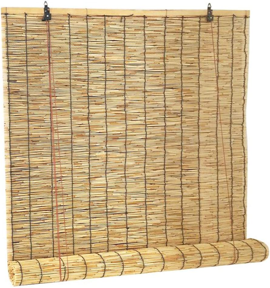 Zlovne Natural Reed Curtain Bamboo 完全送料無料 Shade Blinds Roller Ba 新作通販
