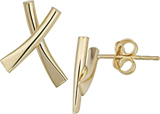 14k Gold X Earrings (yellow gold or rose gold)