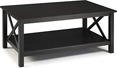 Linon Home Decor Products Nelson, Black Coffee Table