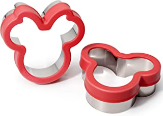 Kayaso Mickey Mouse and Minnie Mouse Cookie Cutter Set, Fun Sandwich Biscuit Cutter for Kids, Food Grade Stainless Steel (pack of 2)