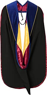 GraduationMall Graduation Deluxe Doctoral Hood With Gold Piping