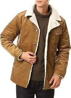 [トップイズム] 裏ボア コーデュロイ ランチコート メンズ コート 綿100% 中綿入り ジャケット