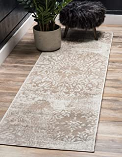 Unique Loom 3138661 Sofia Collection Traditional Vintage Beige Area Rug, 2' x 7' Runner