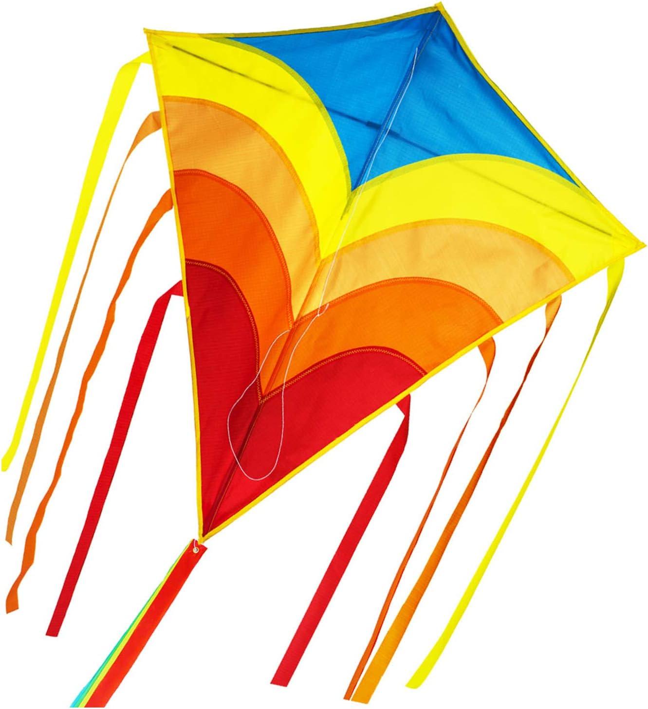 ZHUOYUE Rainbow Diamond Kite for Kids Ki Line and Super Popular popular special price Adults Single