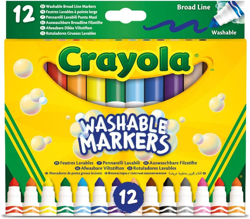 Crayola - 12 washable fibre-tip pens with maxi tip made of super