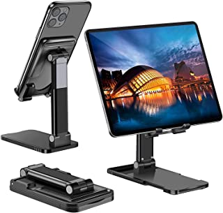 Tablet Stand, Phone stand, Adjustable Tablet Holder - Foldable Desktop Stand Dock Compatible with New iPad 2020 Pro 9.7, 1...