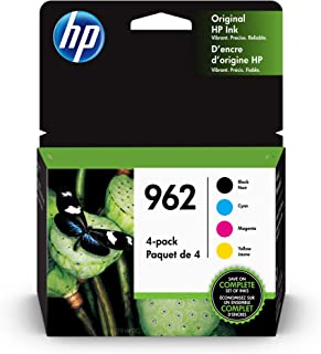 HP 962 | 4 Ink Cartridges| Black, Cyan, Magenta, Yellow | 3HZ99AN, 3HZ96AN, 3HZ97AN, 3HZ98AN