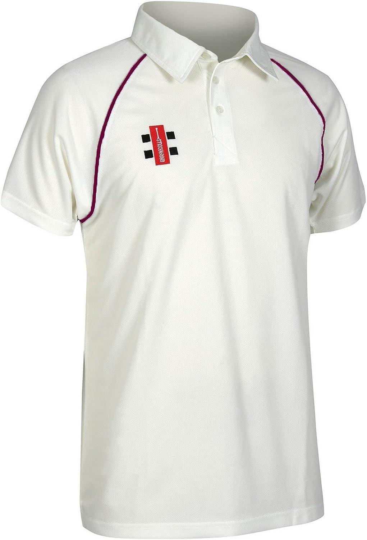 Gray Nicolls Mens Matrix Short Sleeve Cricket Shirt